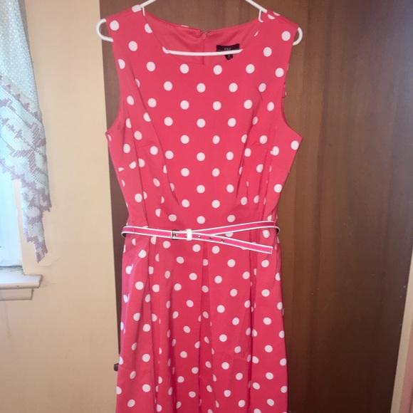 7b47519dcb10 R&K Dresses | Rk Originals Coral Polka Dot Dress | Poshmark